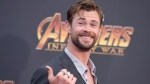"""Chris Hemsworth arrives at the world premiere of """"Avengers: Infinity War"""" on Monday, April 23, 2018, in Los Angeles. (Photo by Jordan Strauss/Invision/AP)"""