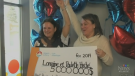 After claiming their winnings from lotto 6/49 grand prize, two sisters from New Brunswick plan to split the winnings.