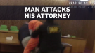 Man attacks attorney after receiving sentence