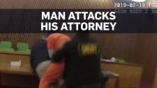 Man attacks attorney after receiving sentence