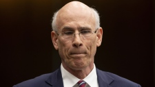 Clerk of the Privy Council Michael Wernick waits to appear before the Justice Committee meeting in Ottawa, Thursday February 21, 2019. (Adrian Wyld / THE CANADIAN PRESS)