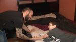 Ali El-Sarji with 5 year old son Hassan