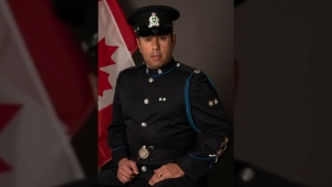 Acting Sergeant John Jasmins is seen in an undated police handout photo. (THE CANADIAN PRESS/HO-Delta Police Department)