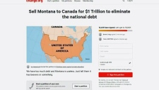 Petition to sell Montana to Canada