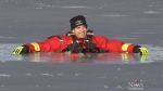 Fire departments lay out frozen lake safety