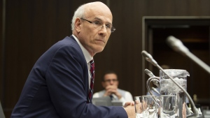 Clerk of the Privy Council Michael Wernick waits to appear before the Justice Committee meeting in Ottawa, Thursday February 21, 2019. THE CANADIAN PRESS/Adrian Wyld