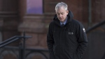 Dennis Oland heads to the Law Courts in Saint John, N.B., on January 29, 2019 as his trial in the bludgeoning death of his millionaire father, Richard Oland, continues. THE CANADIAN PRESS/Andrew Vaughan