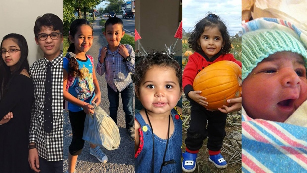 Pictured from left to right, Rola Barho, Ahmad Barho, Ola Barho, Mohammed Barho, Rana Barho, Hala Barho, and Abdullah Barho, died in a tragic house fire in the Spryfield area of Halifax on Feb. 19, 2019. They were members of a Syrian refugee family that came to Canada in 2017. (HEART Society/Facebook)