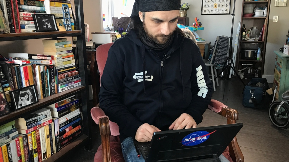 Jae Blakley, like millions of others, is using services such as Ancestry DNA and 23 And Me to learn about his family tree. (Saron Fanel/CTV Saskatoon)