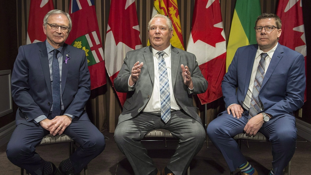 Doug Ford and Blaine Higgs meet in Toronto, discuss carbon tax and trade