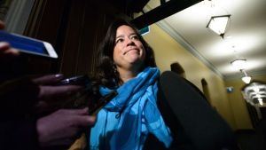 Liberal MP Jody Wilson-Raybould arrives to a caucus meeting on Parliament Hill in Ottawa on Wednesday, Feb. 20, 2019. THE CANADIAN PRESS/Sean Kilpatrick