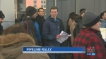 Pipeline supporters rally outside NEB