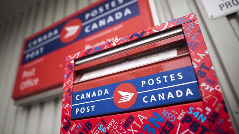 A mail box is seen outside a Canada Post office in Halifax on Wednesday, July 6, 2016. (Darren Calabrese / THE CANADIAN PRESS)