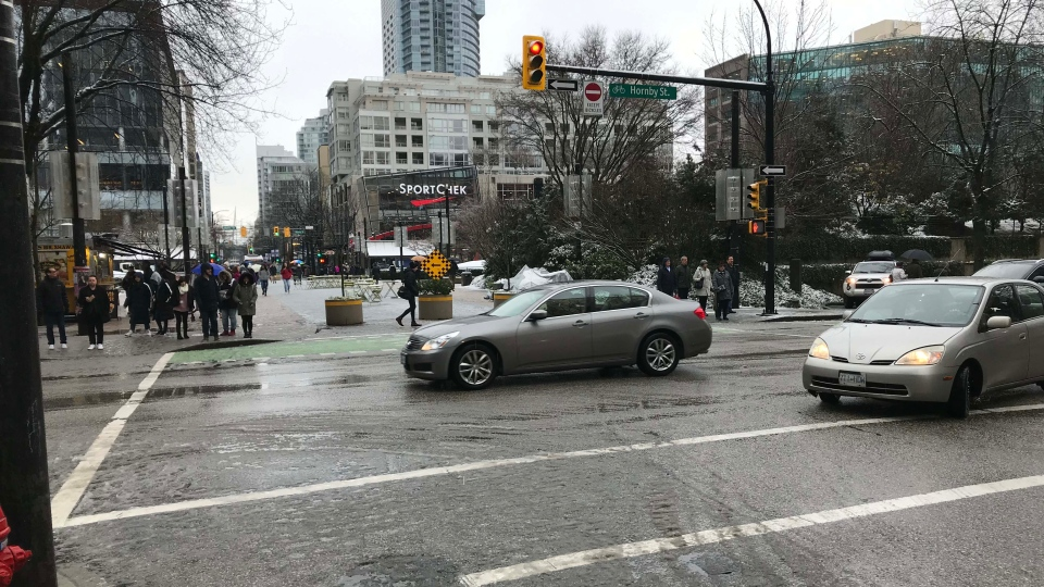 scramble crosswalk robson vancouver