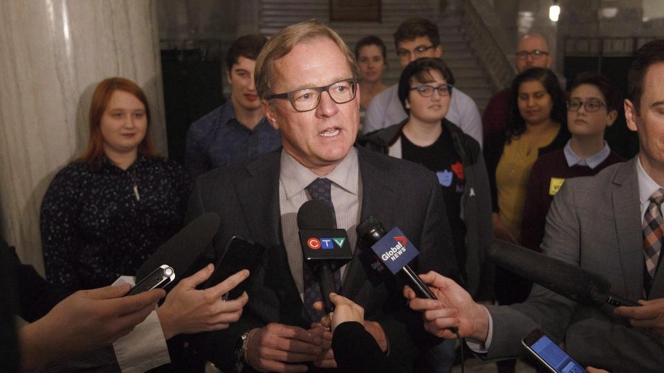 Education Minister David Eggen speaks in Edmonton on November 15, 2017. THE CANADIAN PRESS/Jason Franson