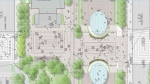 A plan for 800 Robson Plaza that includes scramble crosswalks is seen in this image from the City of Vancouver's website.