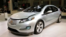 In this Jan. 26, 2010 file photo, the Chevrolet Volt appears on display at the Washington Auto Show. (AP Photo/J. Scott Applewhite)