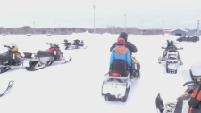 Sault Ste. Marie search and rescue group offers free snowmobile rides to students with special needs. Jairus Patterson reports.