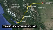 Trans Mountain Pipeline expansion map