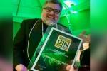 Sheringham Distillery's Senior Vice President Terence Fitzgerald celebrates gin award in London, England. (Photo: Instagram/@sheringhamdistillery)