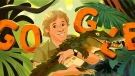 Steve Irwin was featured Friday in a Google Doodle. (Google)