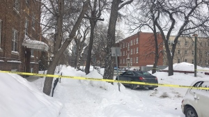 Investigators with the Independent Investigation Unit were sent to the scene on Colony Street, which is blocked off with police tape. (Source: Beth Macdonell/CTV News)
