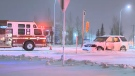 Calgary police remind drivers to be extra cautious on Saturday as some overnight snowfall has covered streets throughout the city once more.