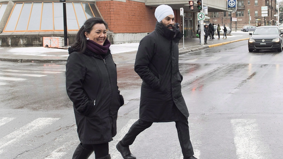 Julia Sanchez and Jagmeet Singh