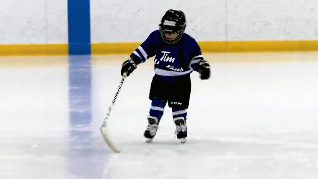Ont. dad mic'd up son at hockey practice
