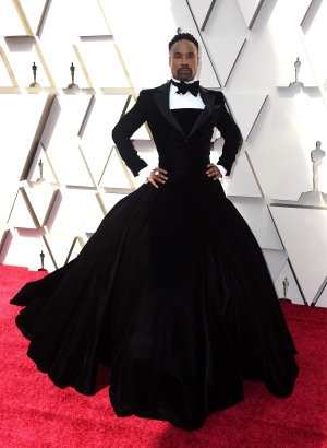 Billy Porter arrives at the Oscars on Sunday, Feb. 24, 2019, at the Dolby Theatre in Los Angeles. (Photo by Jordan Strauss/Invision/AP)