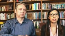 David Antoniuk and Christina Gonzalez