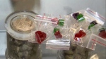Cannabis edibles are seen in this file photo. The Montreal Children's Hospital says it has seen a spike in hospitalizations for children who've consumed cannabis since pot was legalized last fall.