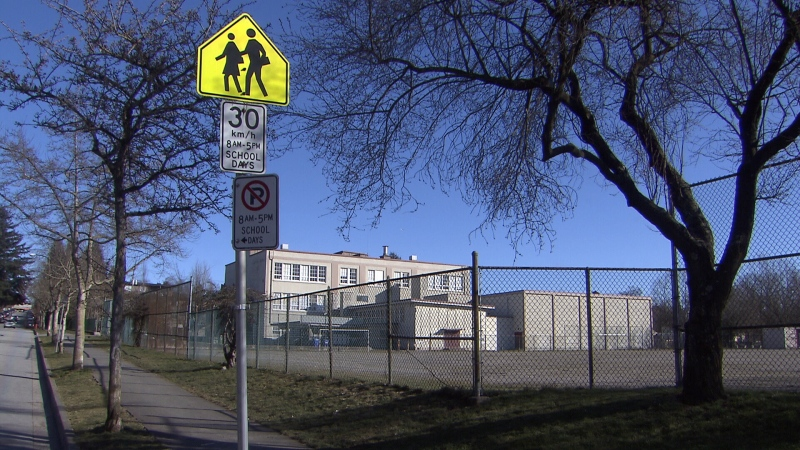 A school in Vancouver is seen in this file photo.