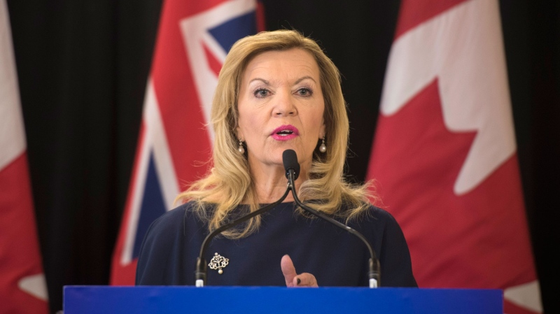 Christine Elliott, Ontario's deputy premier and health minister, speaks in Toronto on Tuesday, February 26, 2019. (THE CANADIAN PRESS / Tijana Martin)