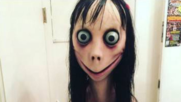 This image is reportedly associated with the Momo Challenge social media phenomenon. (Police Service of Northern Ireland / Facebook)