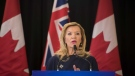 Christine Elliott, Deputy Premier and Minister of Health and Long-Term Care, announces the Government of Ontario's plan for long-term health care system at Bridgepoint Active Healthcare in Toronto on Tuesday, February 26, 2019. THE CANADIAN PRESS/ Tijana Martin