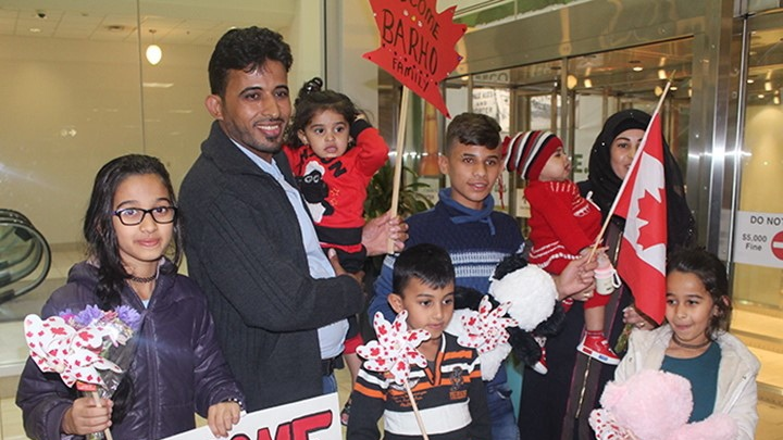 Barho family arrives in Canada