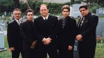 "This undated image released by HBO shows the cast of the hit series, ""The Sopranos,"" from left, Tony Sirico, Steve Van Zandt, James Gandolfini, Michael Imperioli and Vincent Pastore. (Anthony Neste/HBO via AP)"