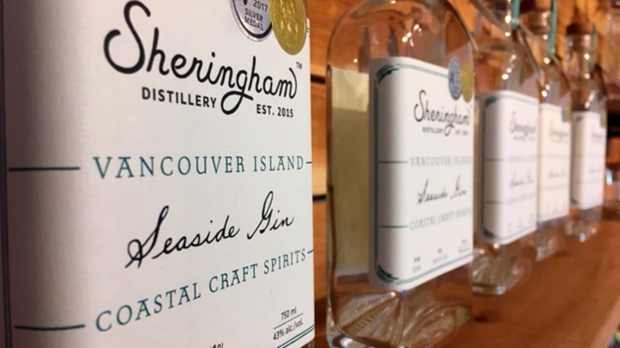 Top award for seaweed-powered Sooke gin 'dream come true' for owners
