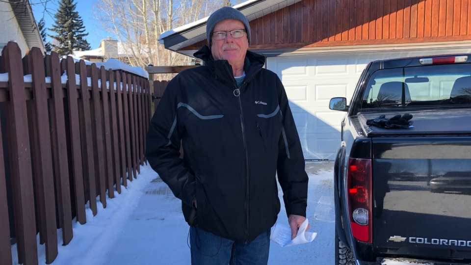 Robert Ball is unhappy with a ticket he got for having no mudflaps. Francois Biber/ CTV NEWS