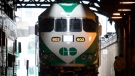 An MP40 locomotive sits on the tracks at Union Station in Toronto, Tuesday, Jan. 15 2008 prior to a photo op as GO Transit showed off the first of 27 new locomotives. THE CANADIAN PRESS/Adrian Wyld