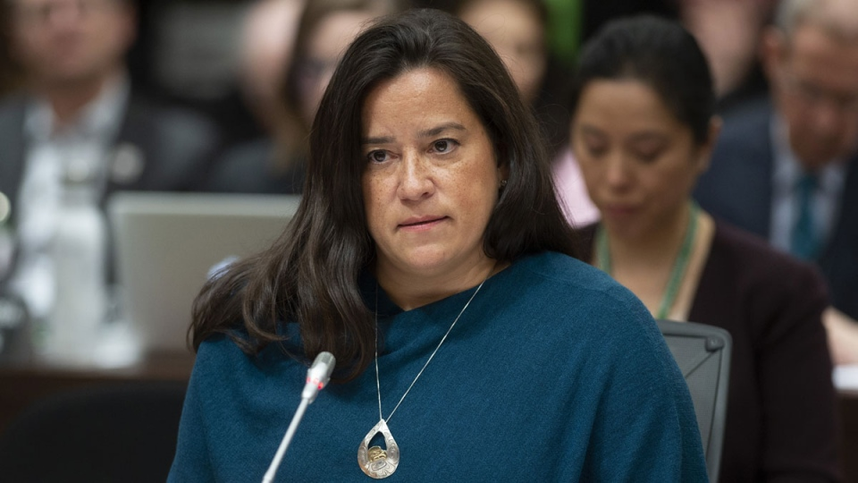 Jody Wilson-Raybould appears at the House of Commons Justice Committee on Parliament Hill in Ottawa on Wednesday, Feb. 27, 2019. (THE CANADIAN PRESS/Sean Kilpatrick)