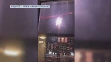 crane sparks in Halifax