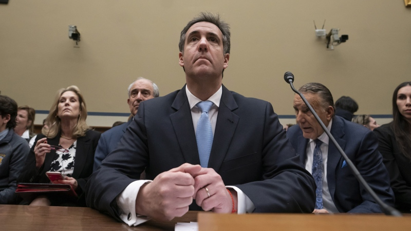 U.S. President Donald Trump's former personal lawyer Michael Cohen at the House Oversight and Reform Committee on Feb. 27, 2019. (J. Scott Applewhite / AP)