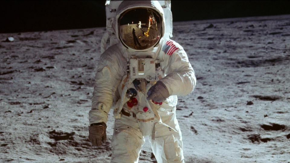 "This image released by Neon/CNN Films shows a scene from the film ""Apollo 11."" (Neon / CNN Films via AP)"