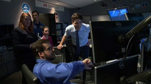 Prime Minister Justin Trudeau tours the Canada Space Agency in Longueuil on Feb. 28, 2019