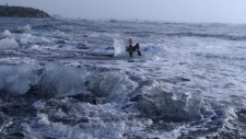 Ice dislodged