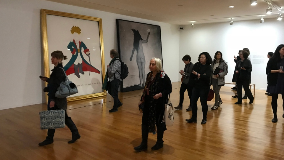 Visitors are seen at the French Moderns exhibit at the Vancouver Art Gallery on Feb. 28, 2019.