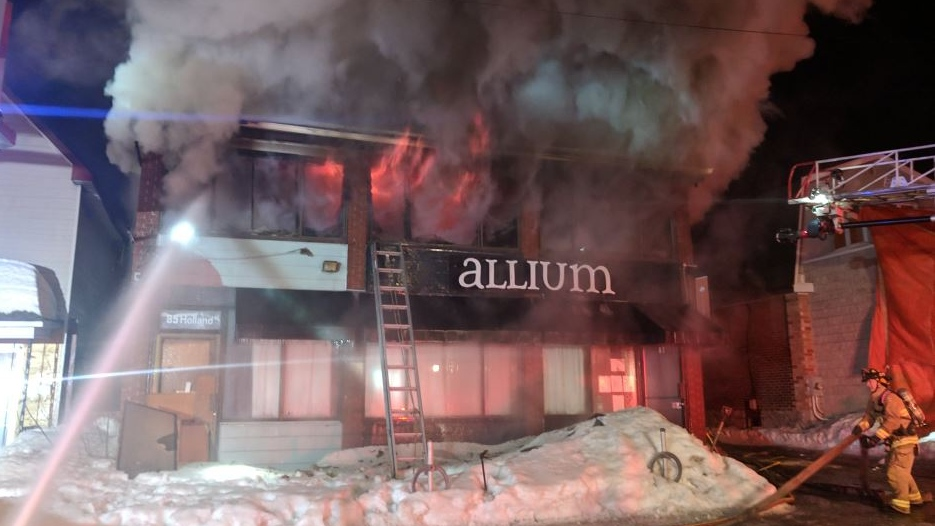 Fire damages Allium Restaurant