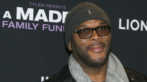 Tyler Perry attends a special screening of 'A Madea Family Funeral' in New York, on Feb. 25, 2019. (Andy Kropa / Invision / AP)